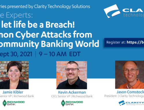 Don't let life be a Breach! Common Cyber Attacks from the Community Banking World